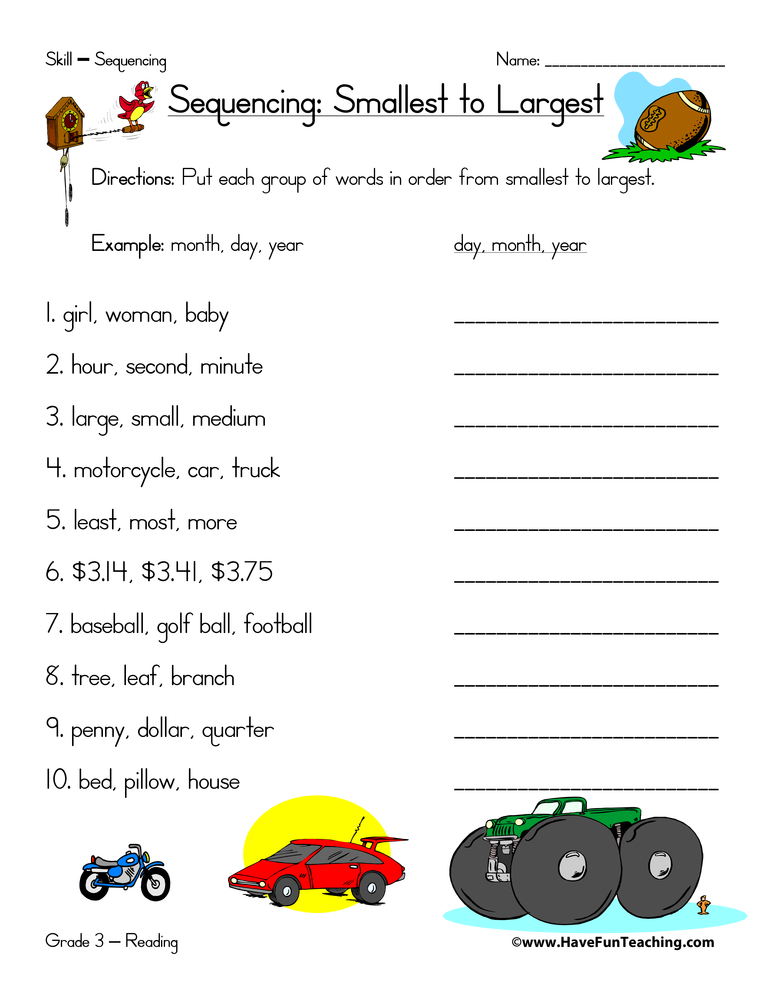 sequence-worksheet