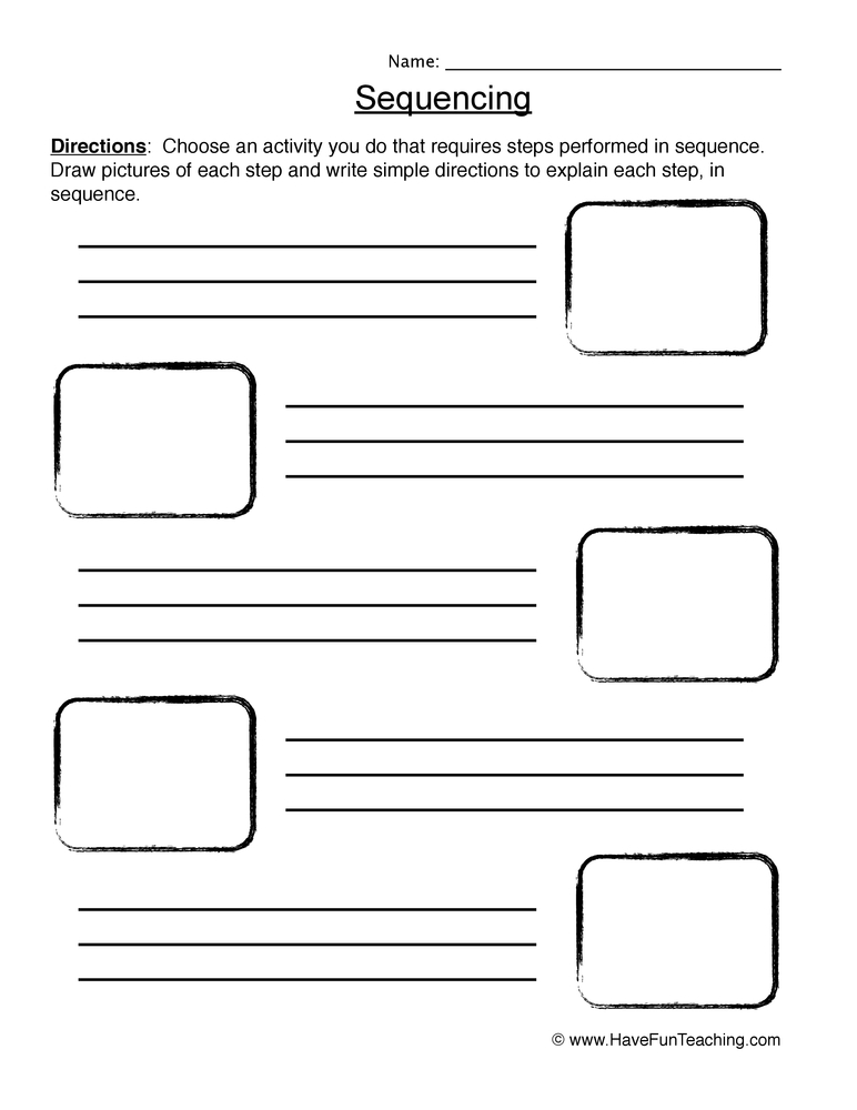 math worksheet : summarizing worksheets  have fun teaching : Sequencing Kindergarten Worksheets