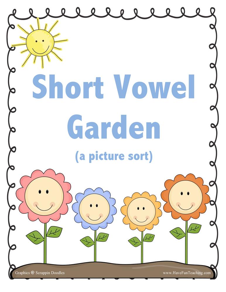 Short Vowel Garden Activity
