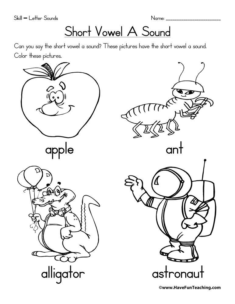 Short Vowel Worksheets Have Fun Teaching. Short Vowel A Worksheet. Worksheet. Short Vowel Worksheets At Mspartners.co