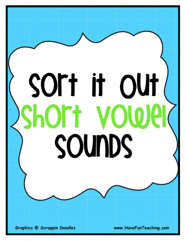 Short Vowel Sounds Activity