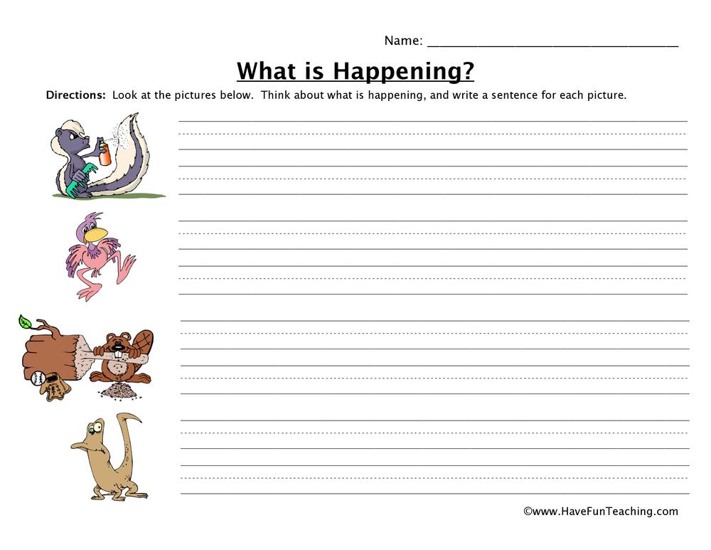Animal Sentence Worksheet