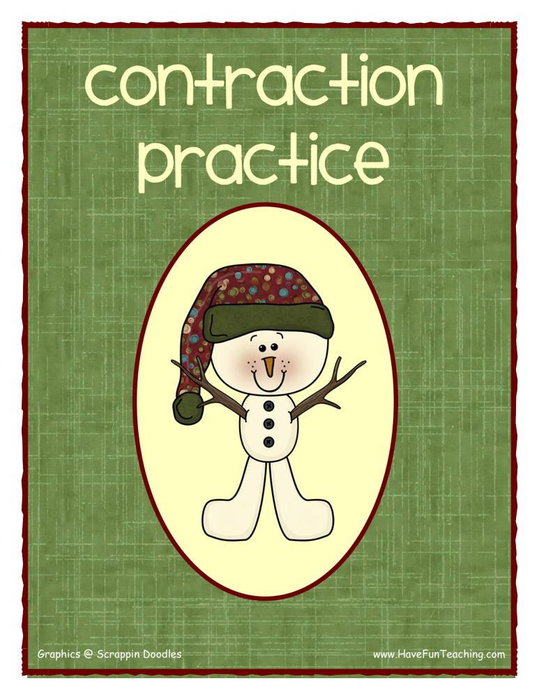 Snowman Contractions Activity