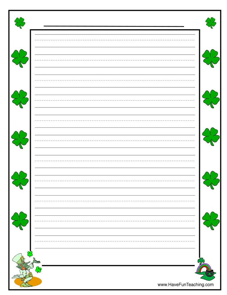 shamrock writing paper This includes writing, photographs, images, and downloads this blog is a collaborative blog written by a group of individuals, and each author owns and is accountable for his/her postings disclosure: there may be affiliate links in this post.