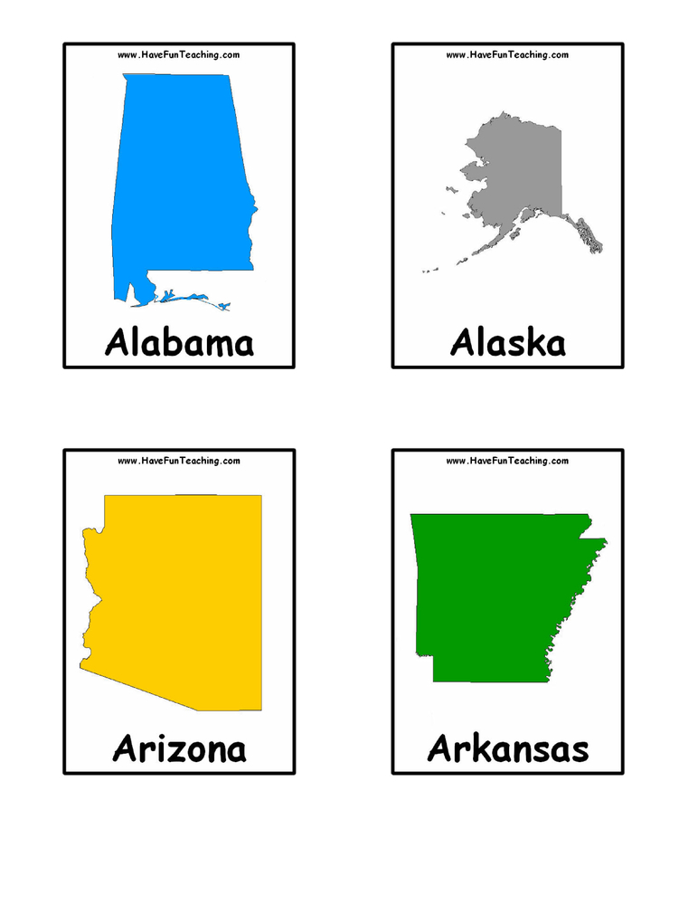 photograph about 50 States Flash Cards Printable identified as Says Flash Playing cards Consist of Enjoyment Training