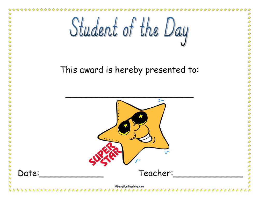 student-of-the-day-award