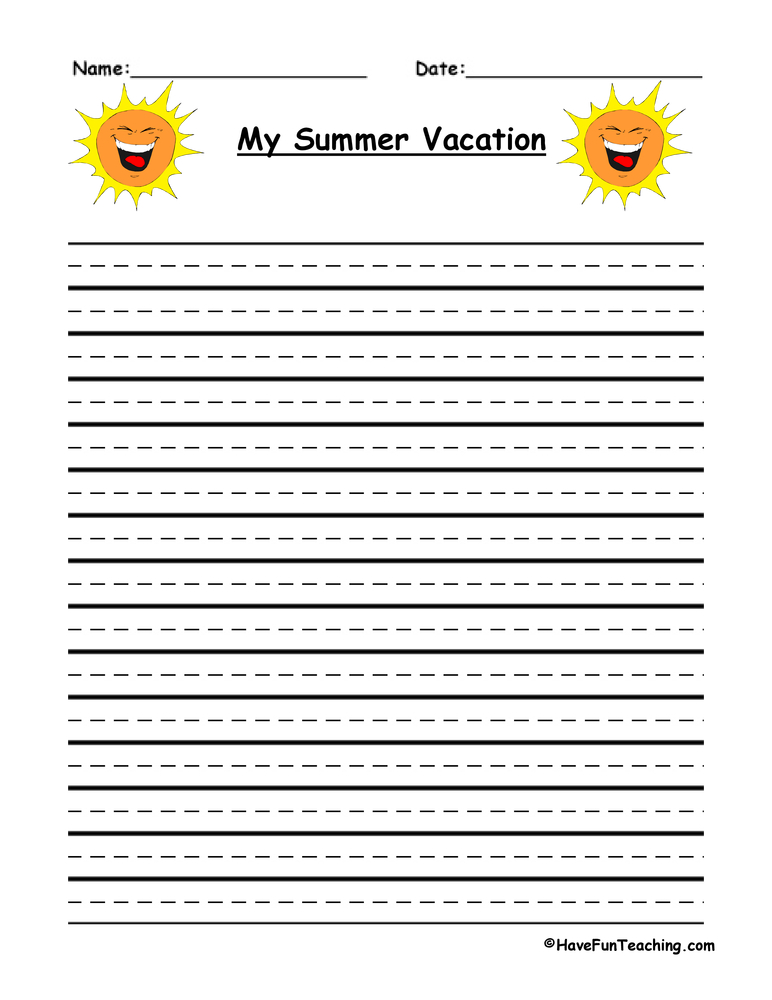 summer vacation essay for class 4th Why summer vacations matter by our son isn't the only child in the class who survived 4th grade with a perfect report catch up on any essays.