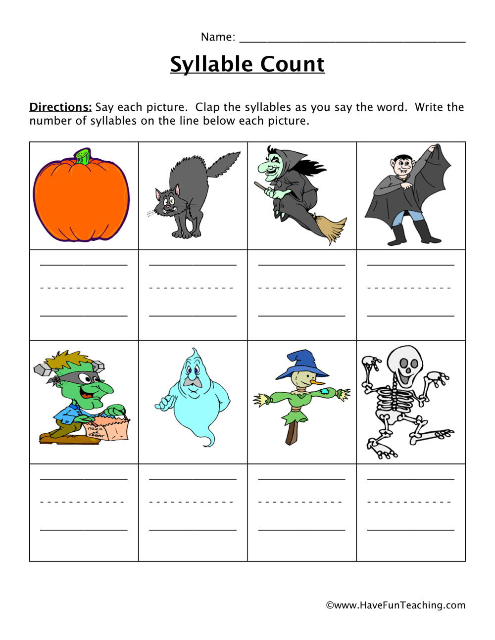 Printables Syllable Worksheets syllable worksheets page 2 of 3 have fun teaching worksheet
