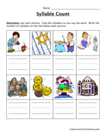 Hanukkah Syllable Worksheet