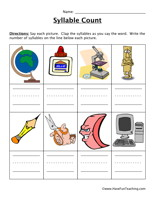 math worksheet : syllable worksheets  page 2 of 3  have fun teaching : Syllable Worksheets Kindergarten