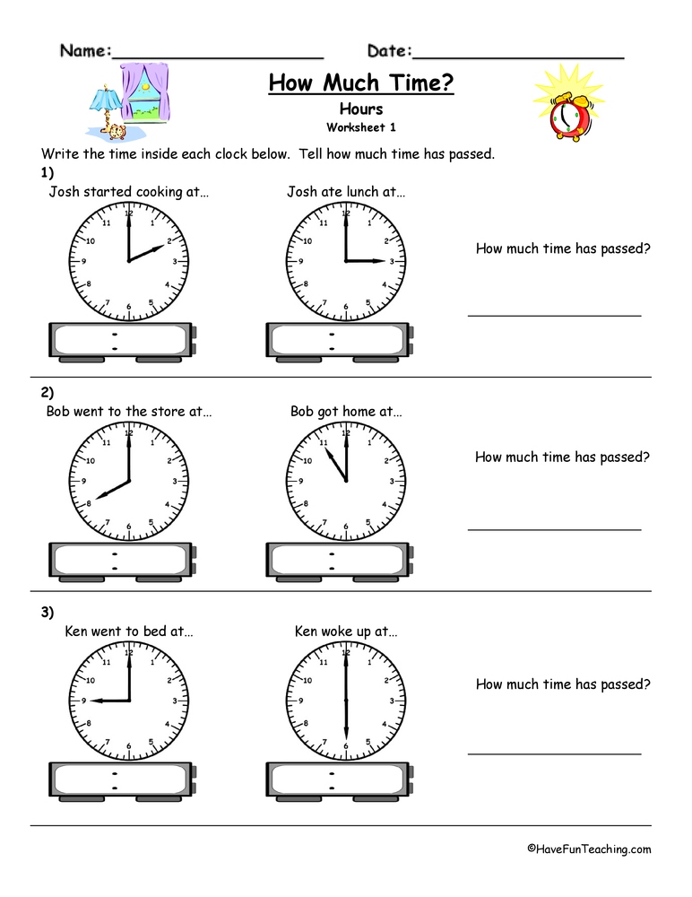 clock worksheets have fun teaching. Black Bedroom Furniture Sets. Home Design Ideas