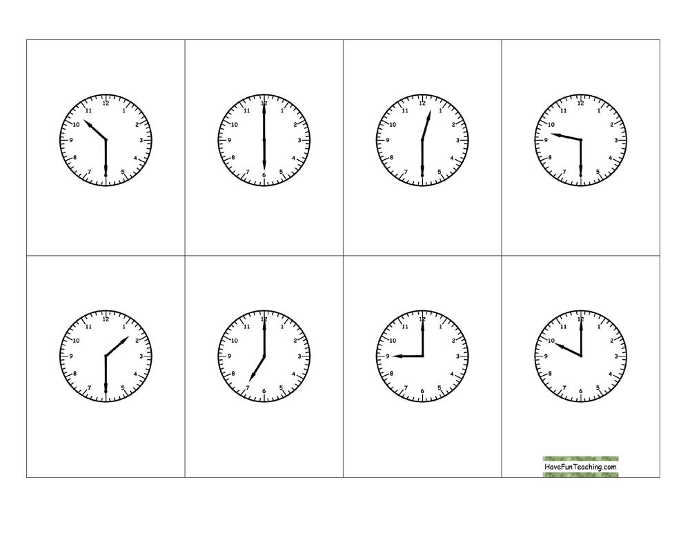 telling-time-half-hour-bingo