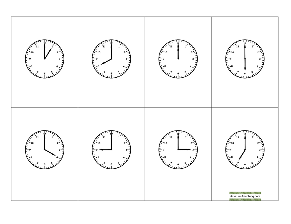 telling-time-hour-clock-bingo