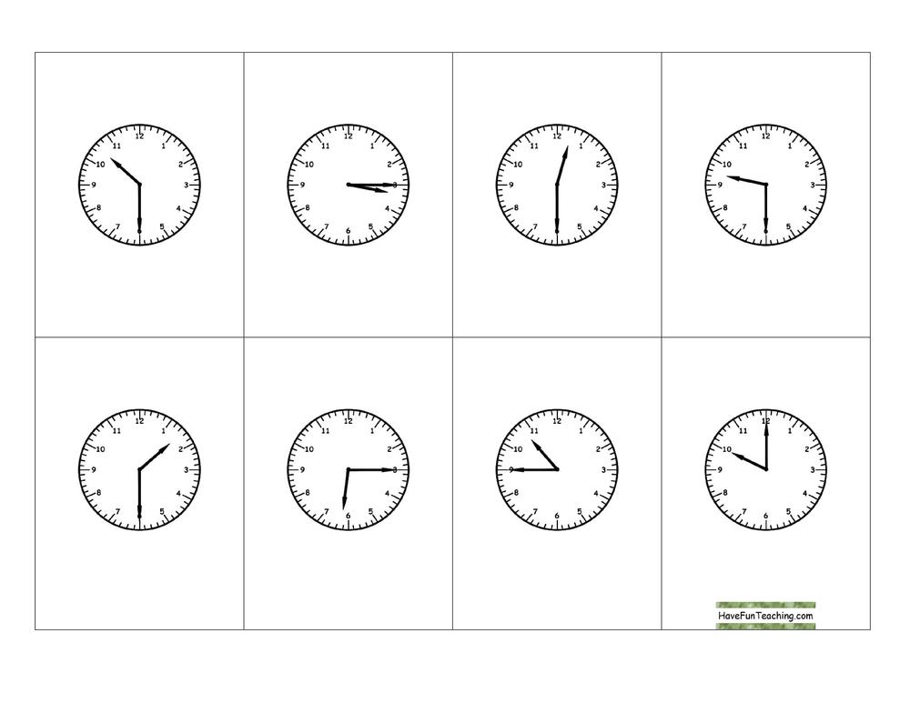telling-time-quarter-hour-bingo