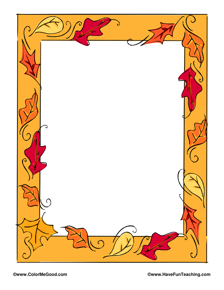 thanksgiving writing paper with borders Printable writing paper for school and home with colored, lined, blank and bordered writing paper kids can practice their writing skills with a variety of ruled paper with different themes, colors, ruled, blank and fun seasonal paper print colored border paper or black and white border paper you can color yourself.