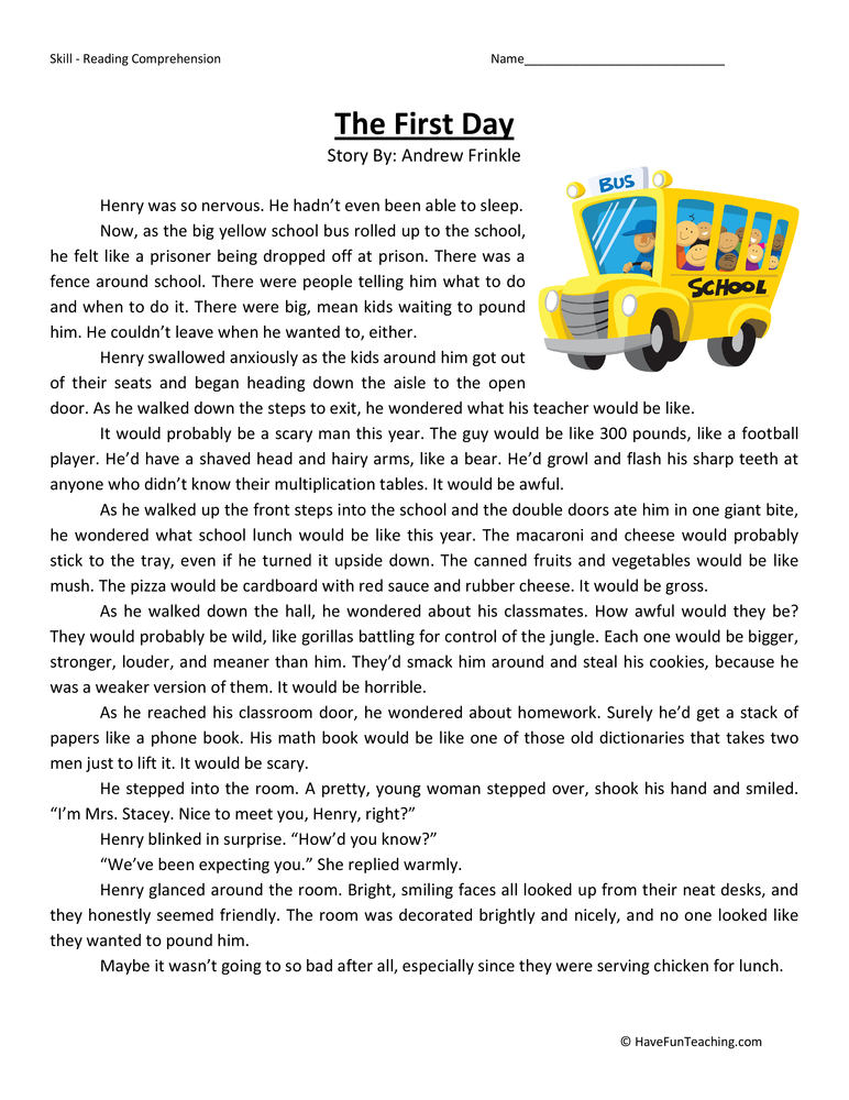 Worksheets Reading For 4th Graders : Reading passages for fourth graders grade