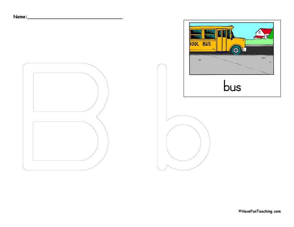 Alphabet Worksheets – Letter B Tracing Worksheets