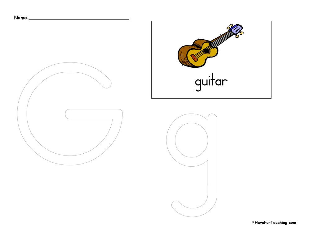 Letter G Tracing Worksheet