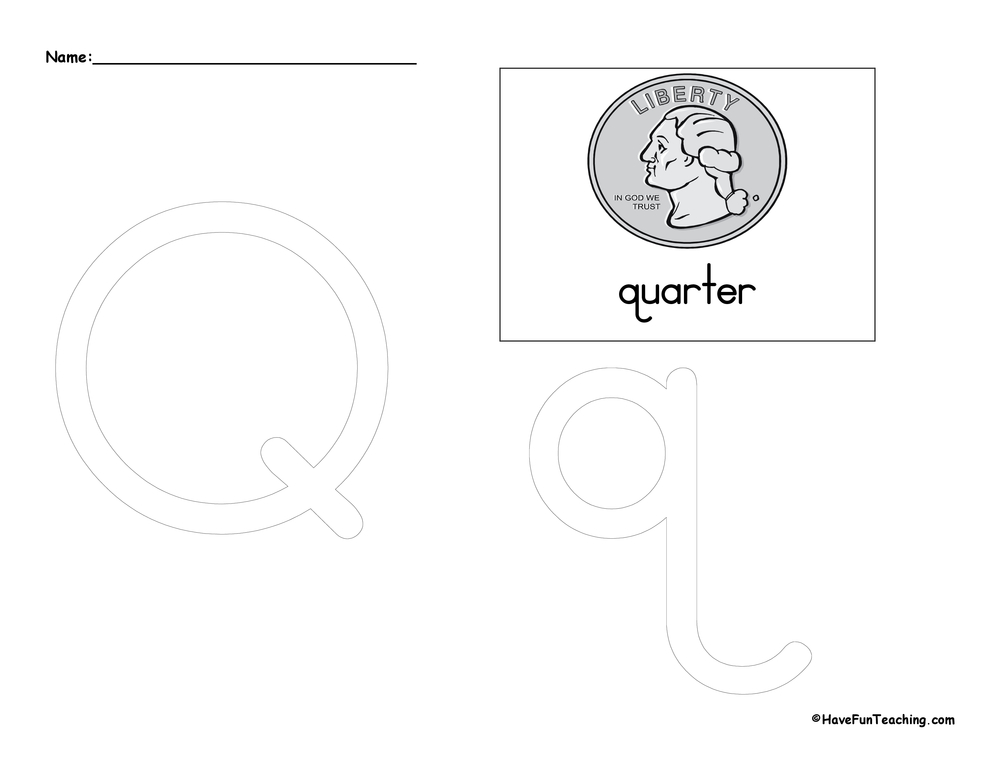 Letter Q Tracing Worksheet | Have Fun Teaching on tracing printables, tracing snowflakes, tracing heart, tracing stars, tracing coloring pages, tracing shapes, tracing fall, tracing animals, tracing art, tracing bunnies, tracing letter r, tracing worksheets, tracing fish,