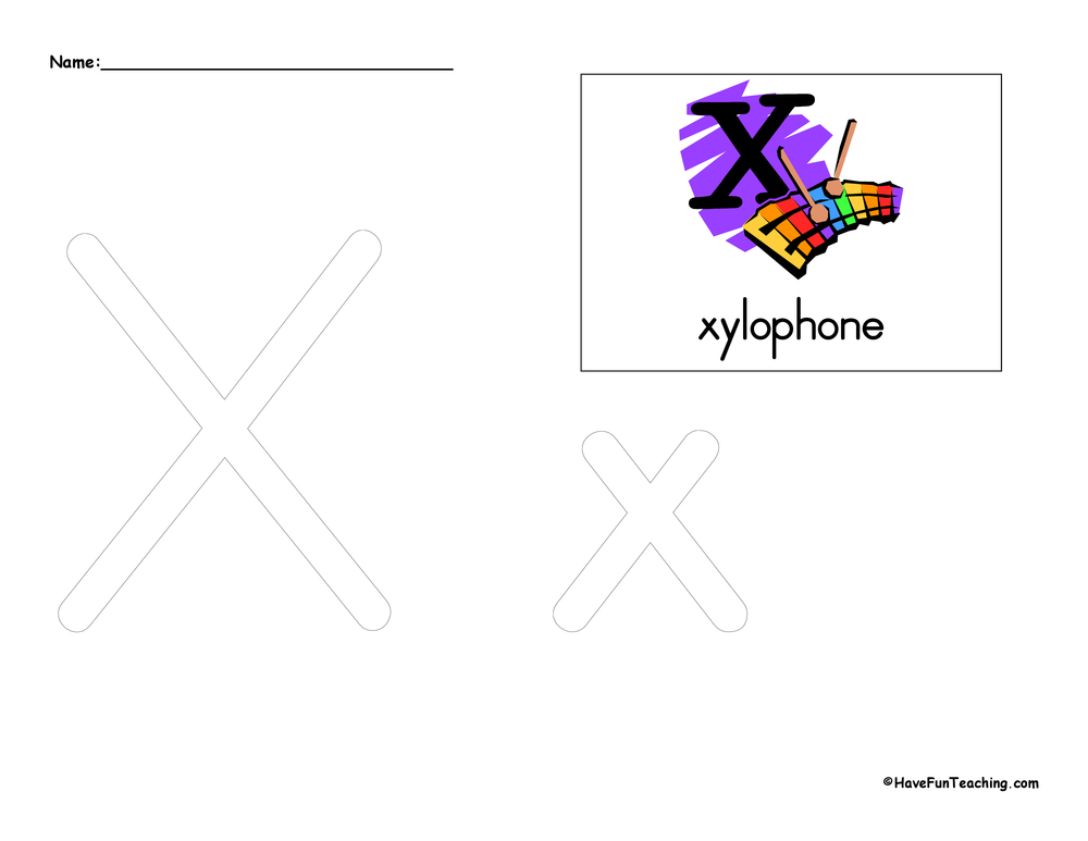 Letter X Tracing Worksheet Have Fun Teaching