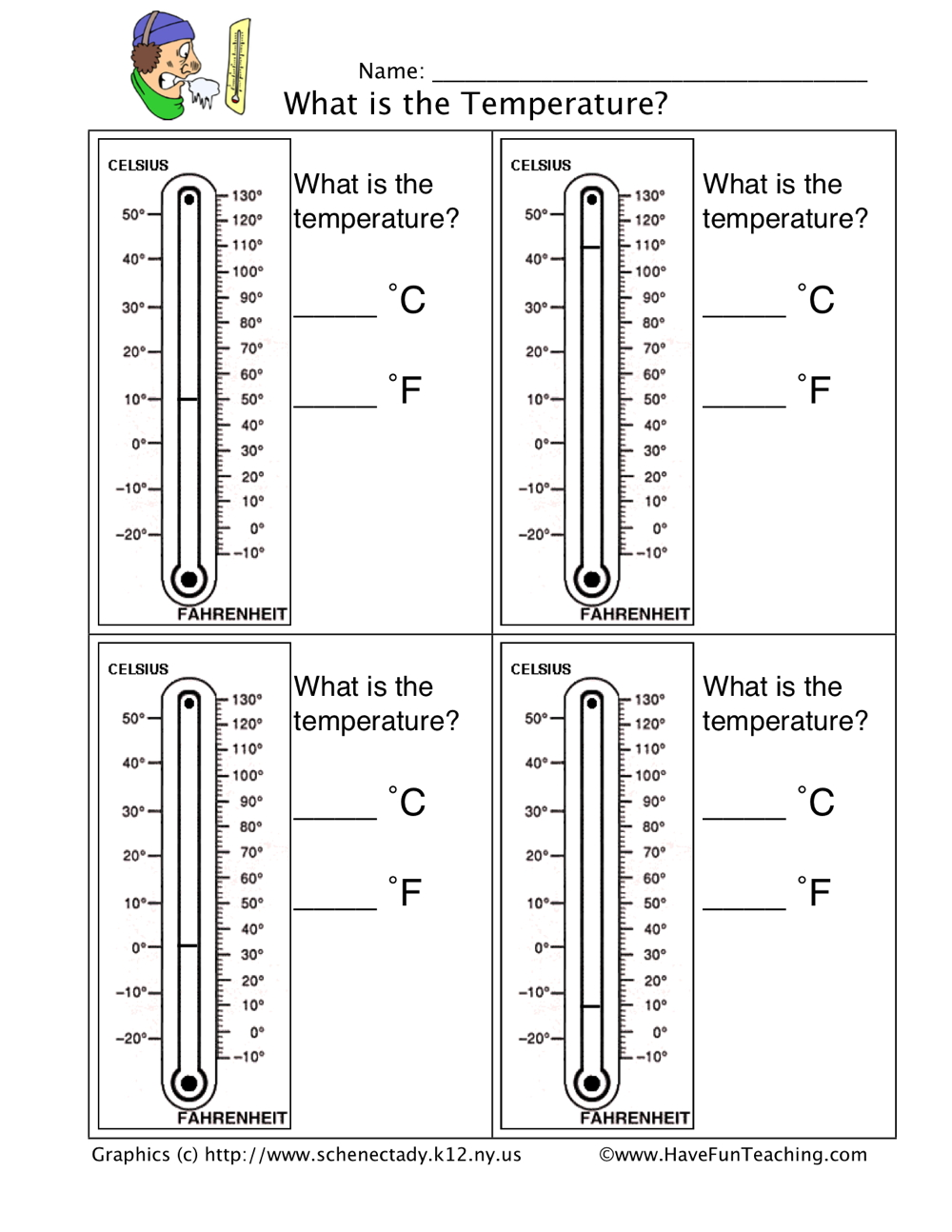 Worksheets Thermometer Worksheets thermometer worksheet have fun teaching 1