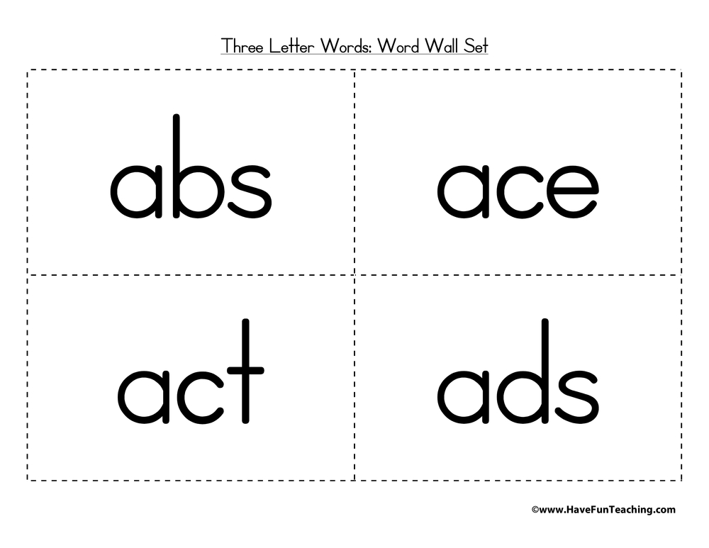 three letter word wall