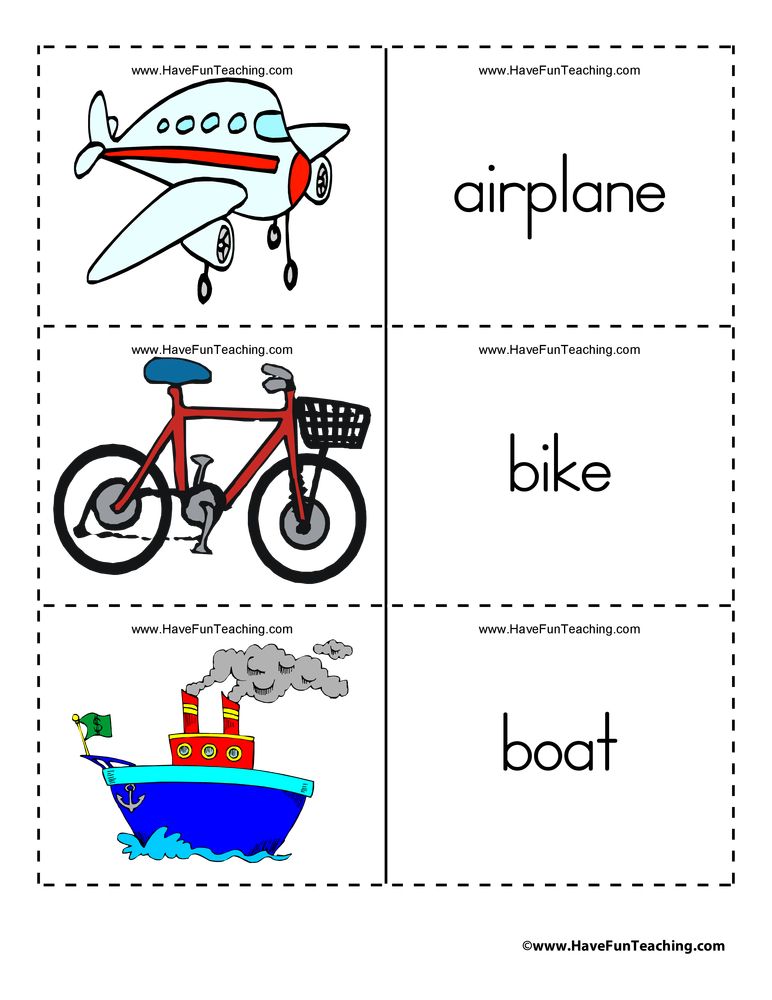 transportation-flash-cards