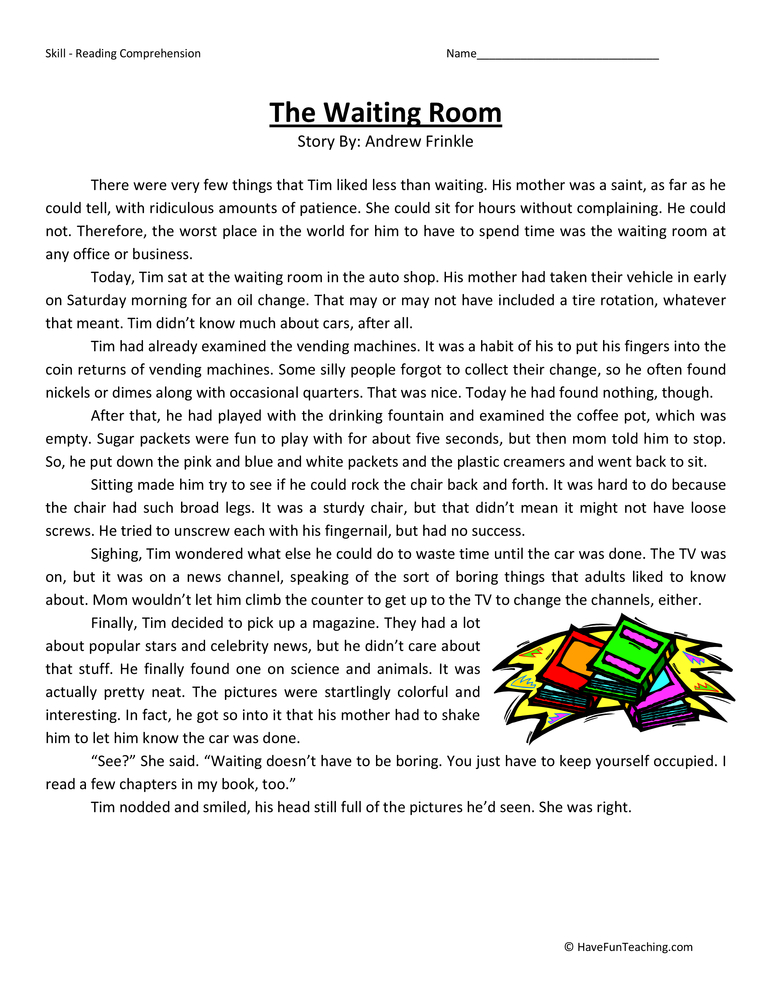 4th Grade Reading Comprehension Page 6 Of 7 Have Fun Teaching