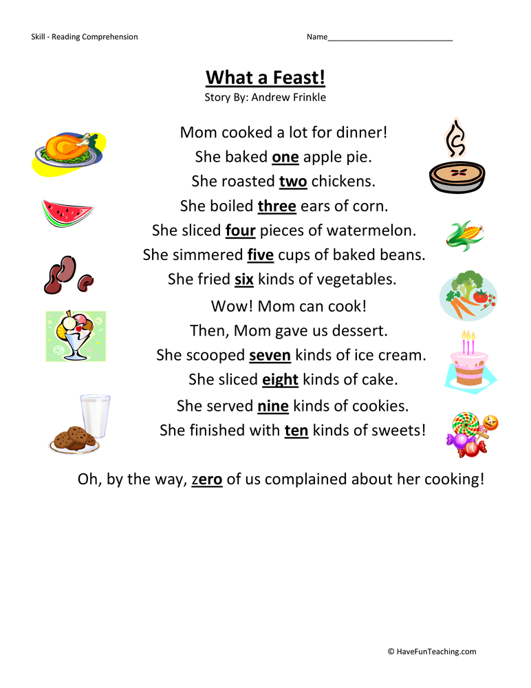 First Grade Reading Comprehension Worksheets | Page 7 of 7 | Have ...