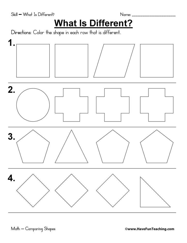 what-is-different-worksheet