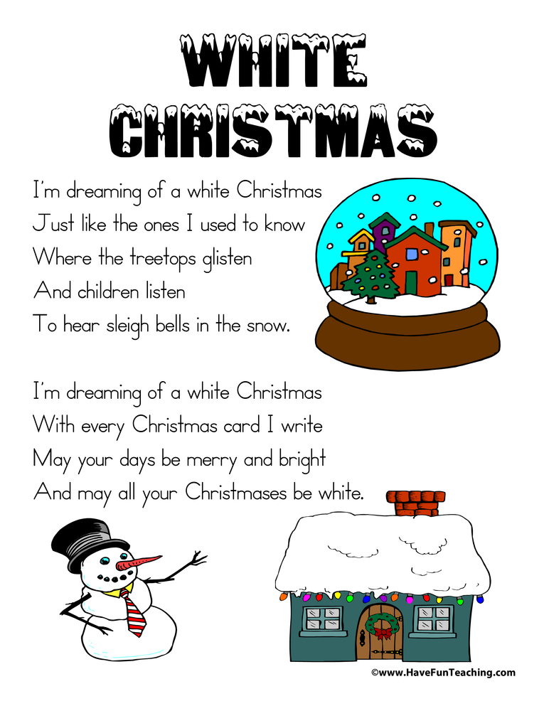 White Christmas Lyrics | Have Fun Teaching