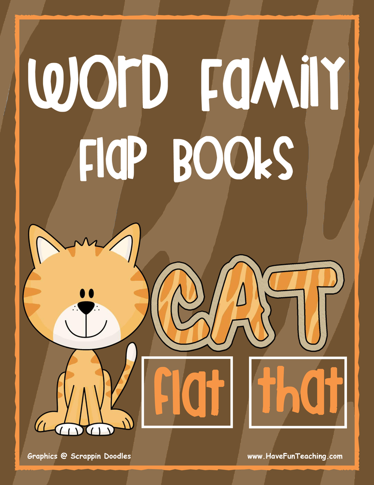 Word Family Flap Books Activity