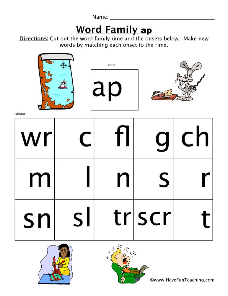 word-family-worksheet-ap