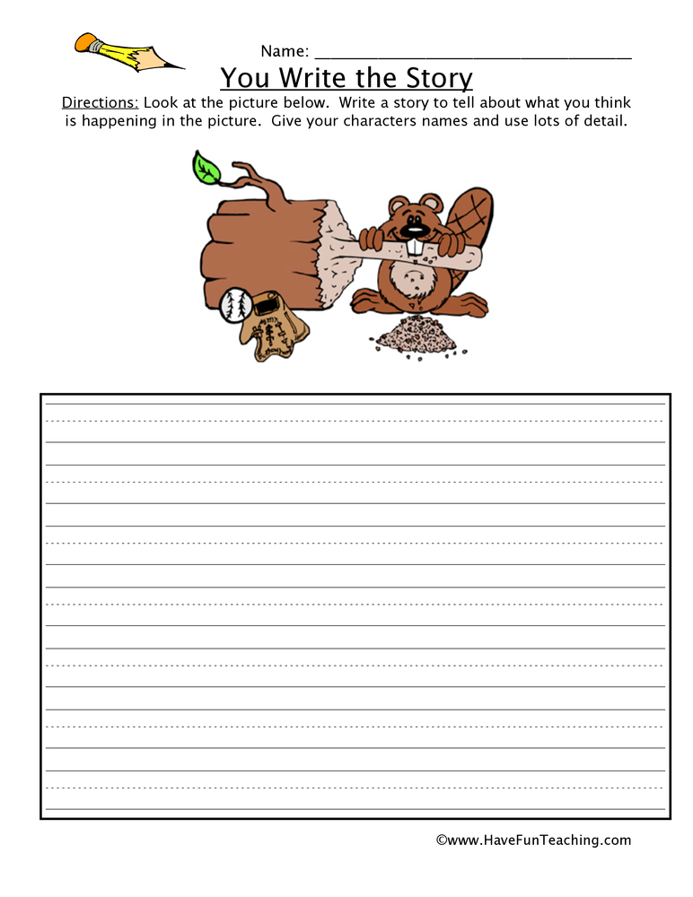 write a story Story writing game for kids this great story writing game for kids will help teach children how to create the right atmosphere when planning stories based around a chosen topic use the correct words to create an atmosphere suitable for a ghost story, spy story or romance.