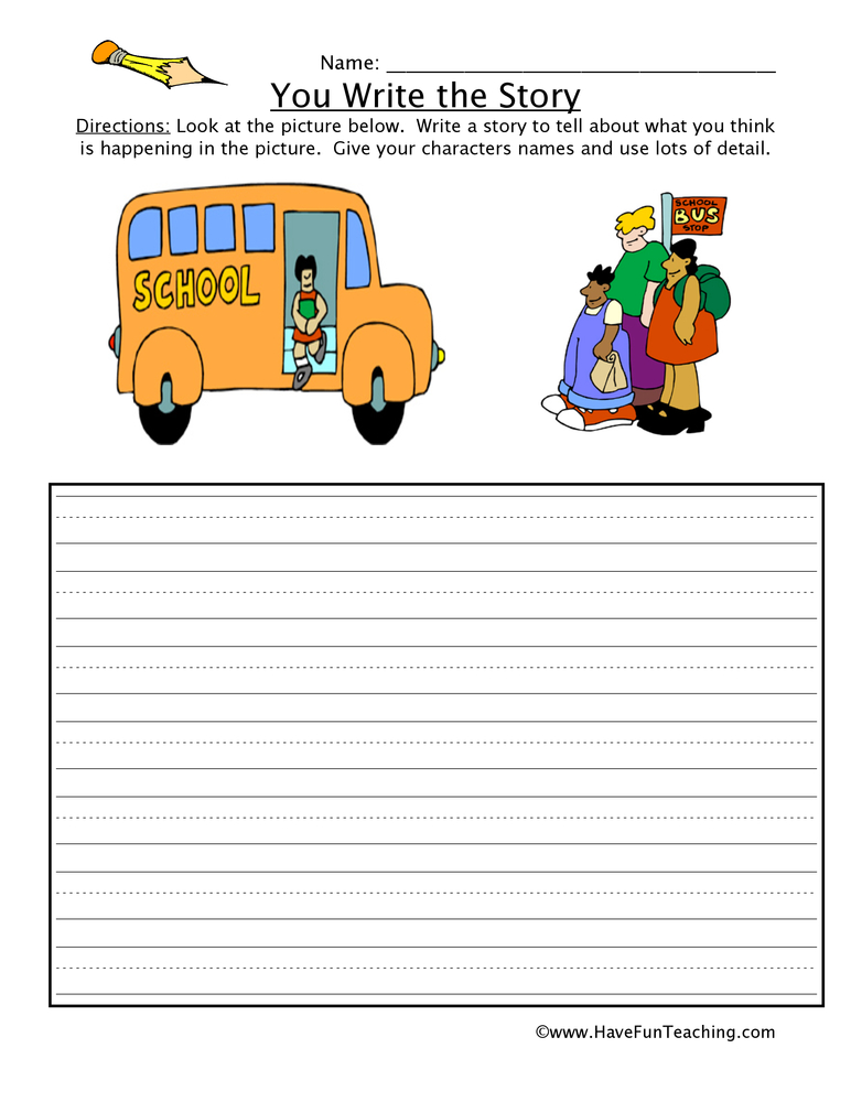 You Write The Story Worksheet