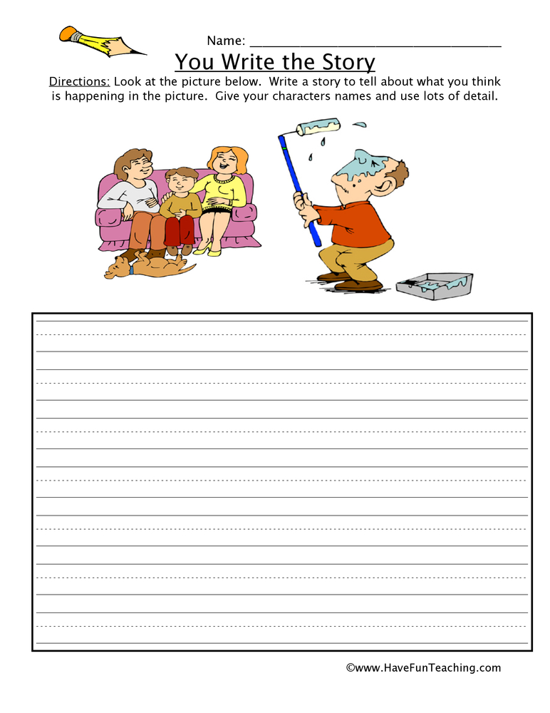 You Write The Story Worksheet: Sequencing Worksheets For Painting At Alzheimers-prions.com