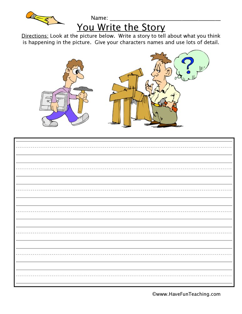 Resource Writing You Write The Story Worksheet 14