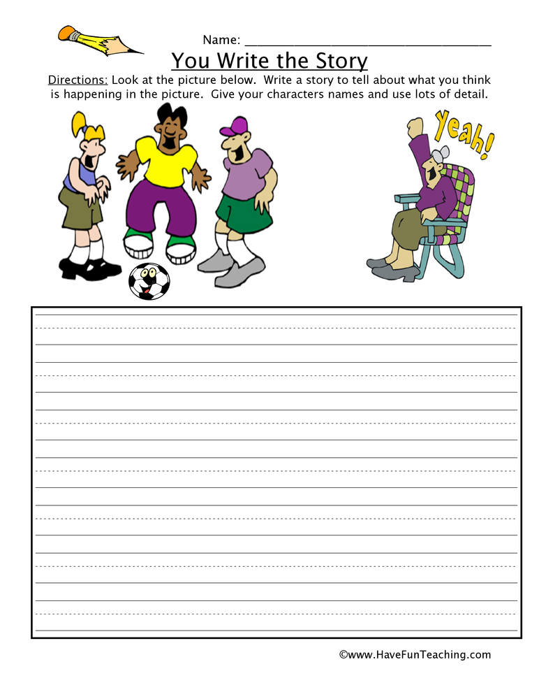 math worksheet : narrative writing worksheets  have fun teaching : Story Worksheets For Kindergarten