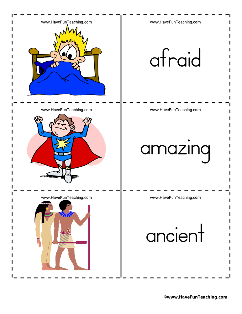 Adjective Flash Cards