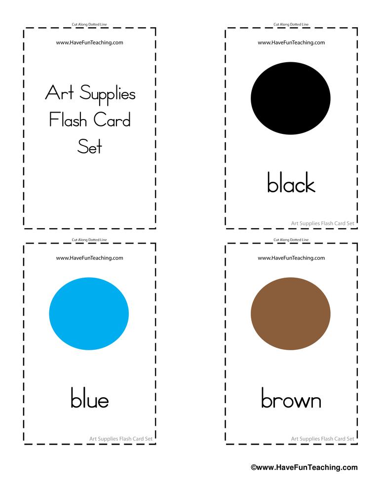 art-supplies-flash-cards