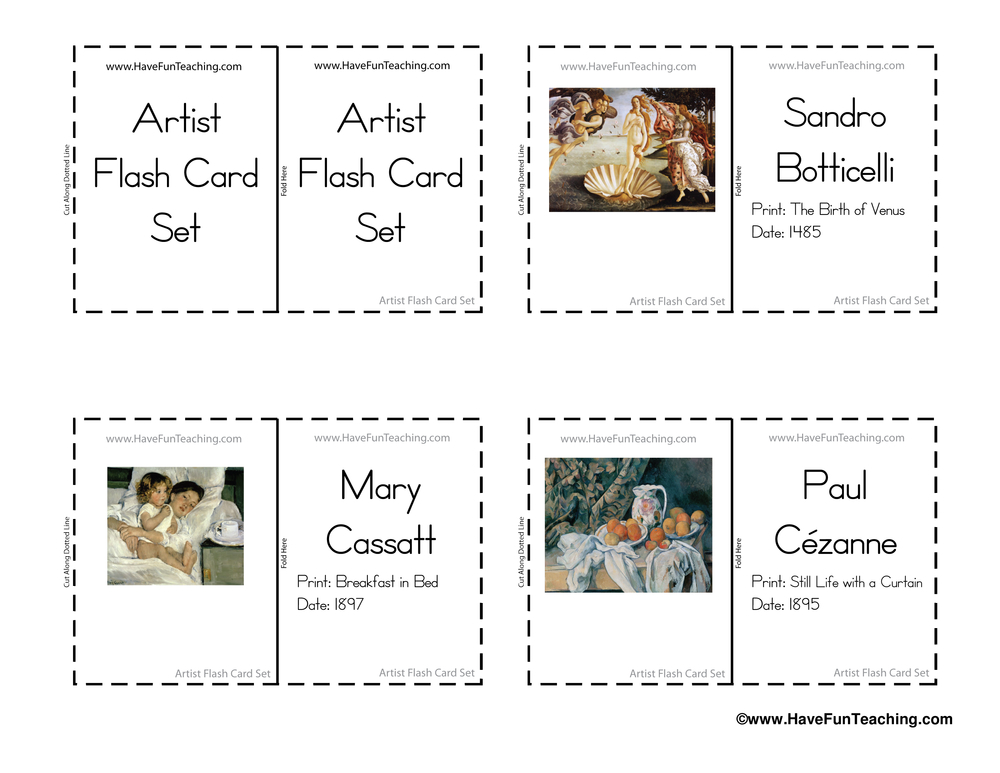 artist-flash-cards