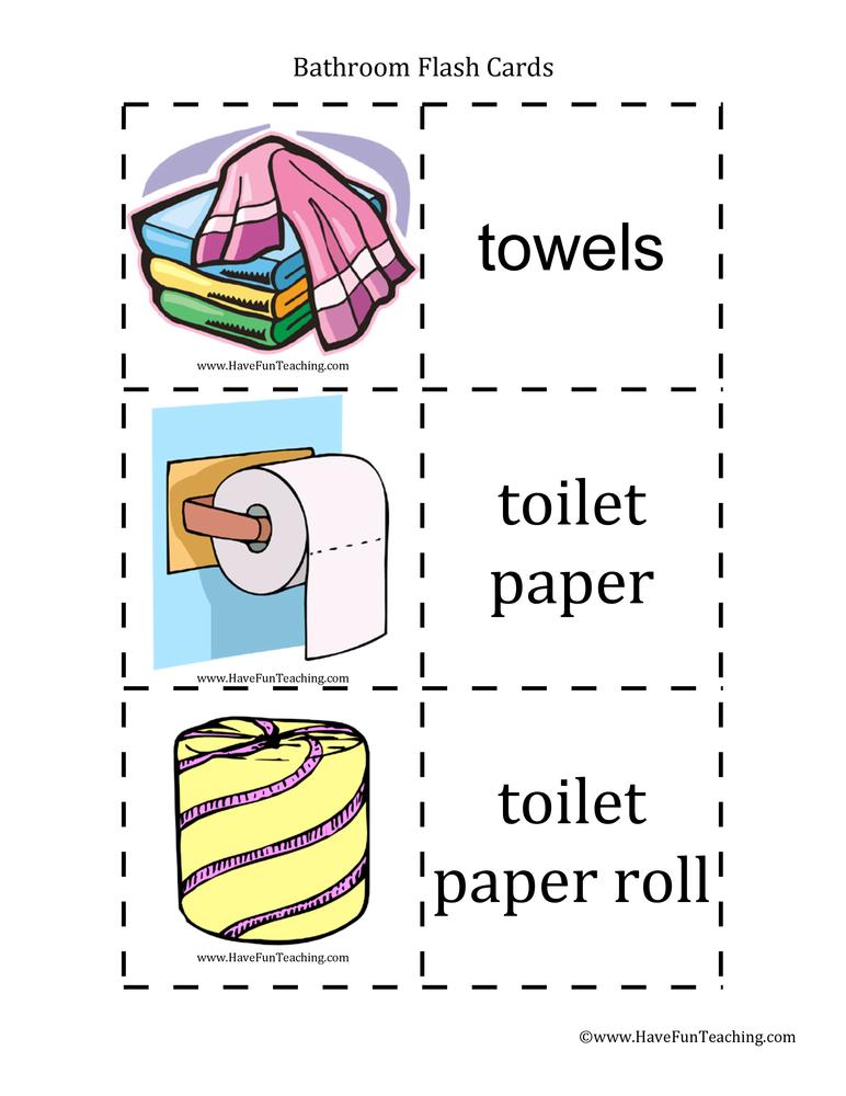 bathroom-flash-cards