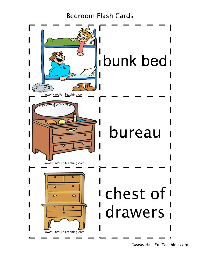 bedroom-flash-cards