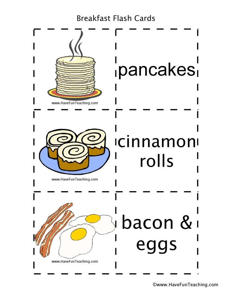 breakfast-flash-cards