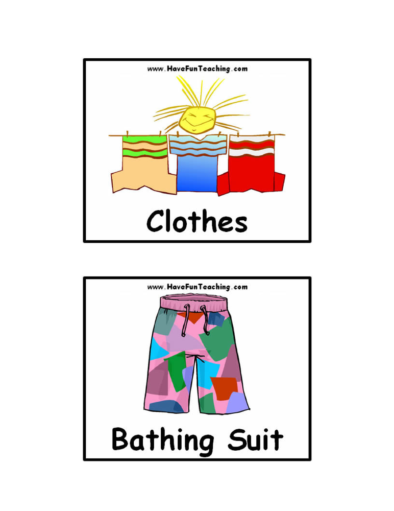 clothing-flash-cards
