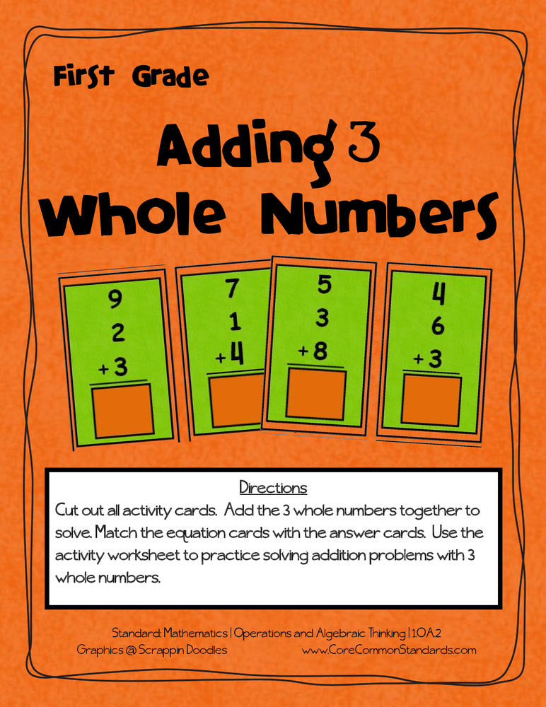 Common Core Activity - 1.OA.2