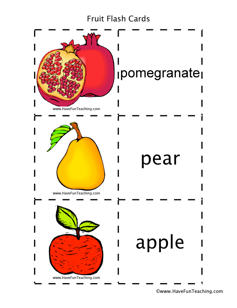 fruit-flash-cards