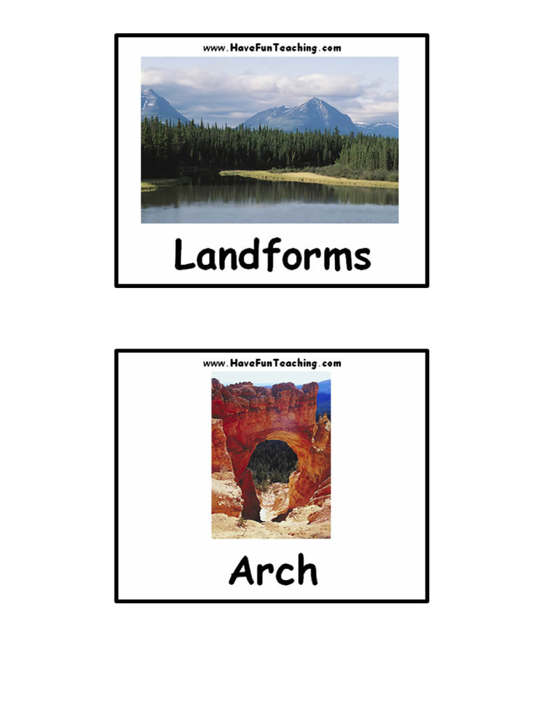 landforms-flash-cards