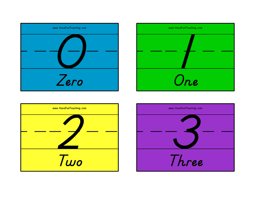 number-flash-cards-0-50-words-color