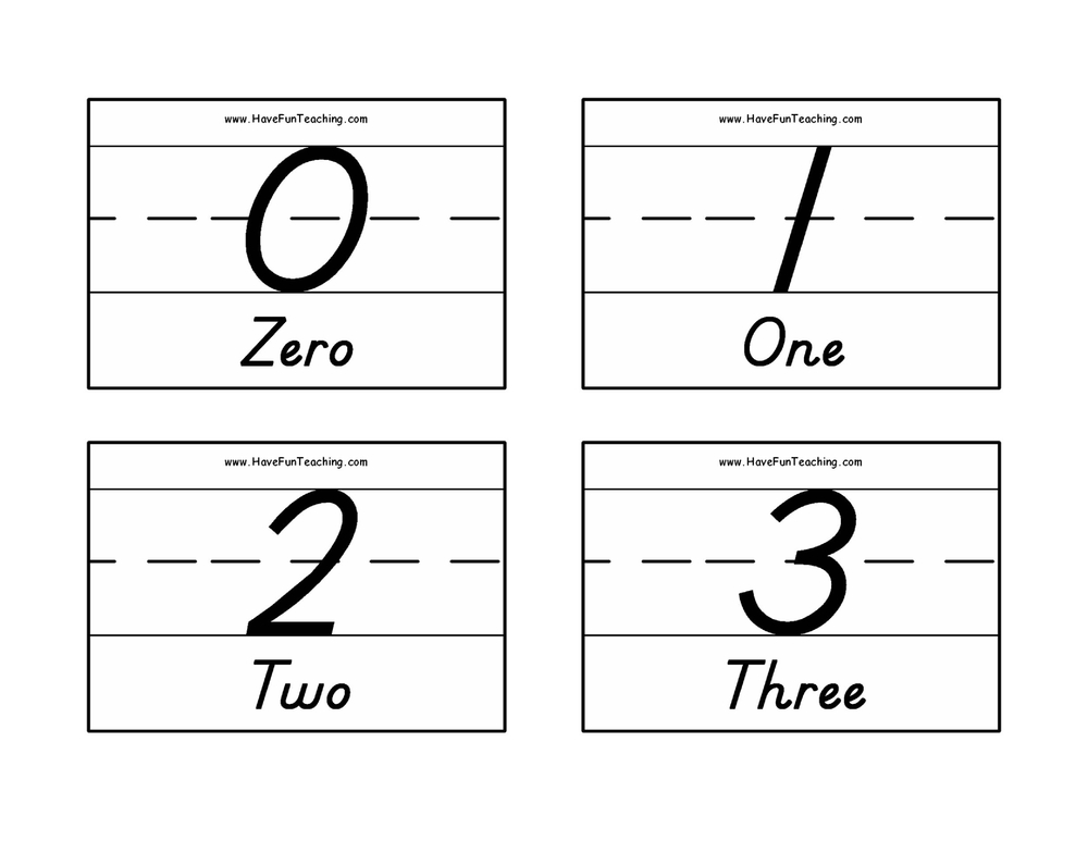 number-flash-cards-0-50-words